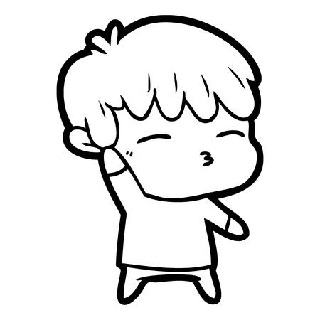 만화 호기심 소년 일러스트