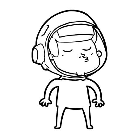 漫画自信のある宇宙飛行士