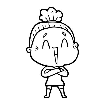 cartoon happy old lady Stock fotó - 95534365