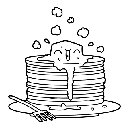 stack of tasty pancakes 向量圖像