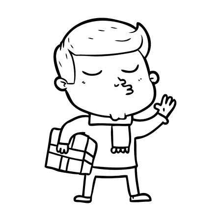漫画モデルの男のパウティング