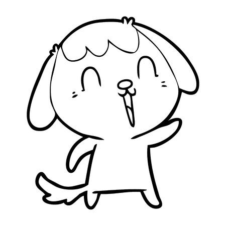 cute cartoon dog Illustration