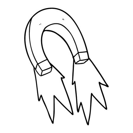 cartoon magnet illustration design. Reklamní fotografie - 95535370
