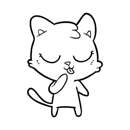 cute cartoon cat Stock Vector - 95535550