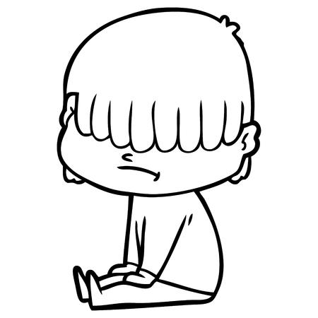 cartoon boy with untidy hair Zdjęcie Seryjne - 95535569
