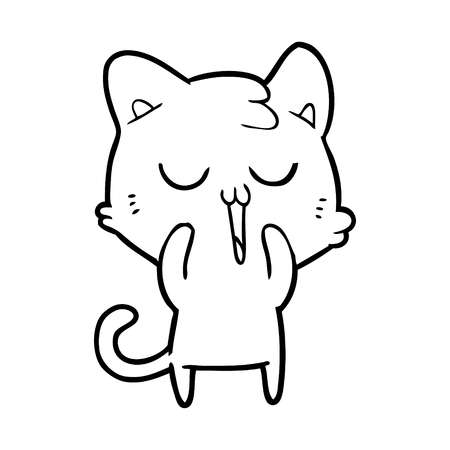 cute cartoon cat Stock Vector - 95535628