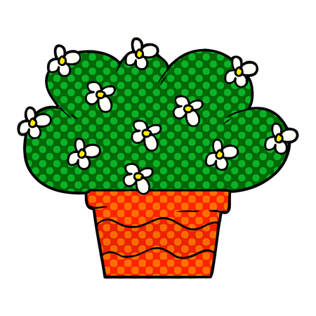 Cartoon green plant