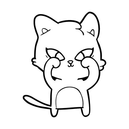 cute cartoon cat 版權商用圖片 - 95535791