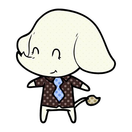 cute cartoon elephant boss