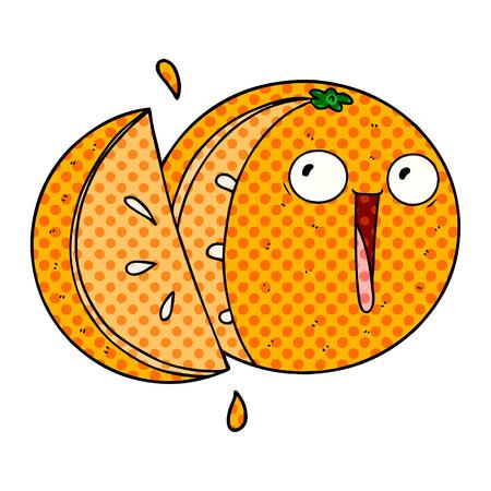 crazy cartoon orange