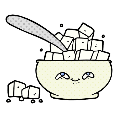 Cartoon sugar bowl illustration Vettoriali