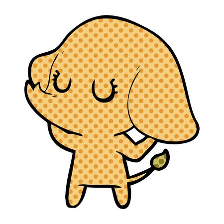 cute cartoon elephant Vector illustration. Standard-Bild - 95379012