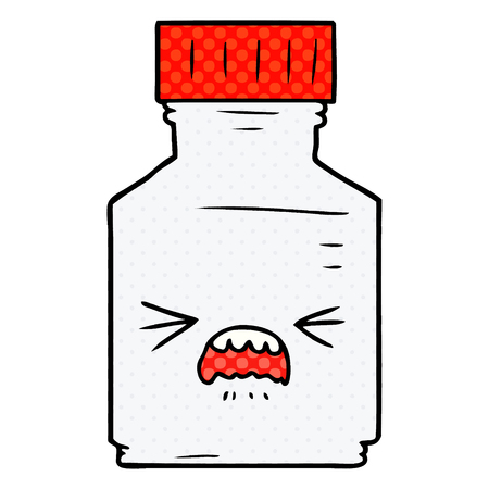 cartoon pill jar