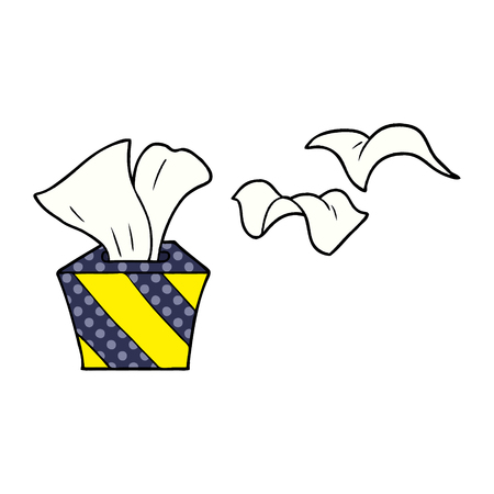 cartoon box of tissues Vector illustration.
