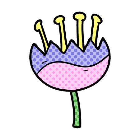 A cartoon flower Stok Fotoğraf - 95442191