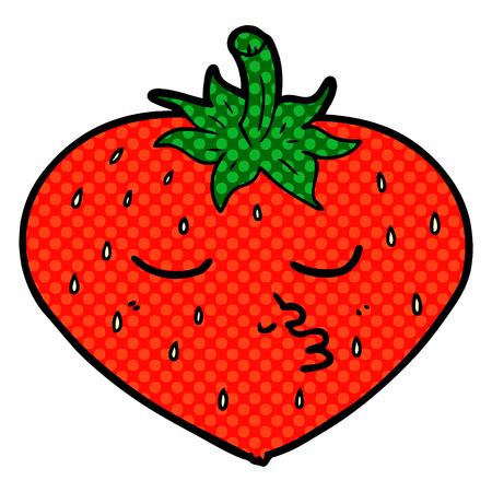 Cartoon strawberry illustration