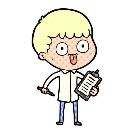 Cartoon man staring vector illustration Иллюстрация