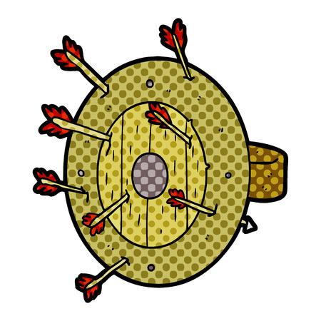 A shield full of arrows