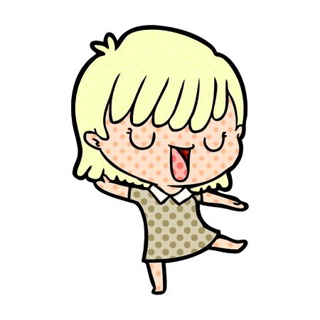 cartoon woman singing 版權商用圖片 - 95407411