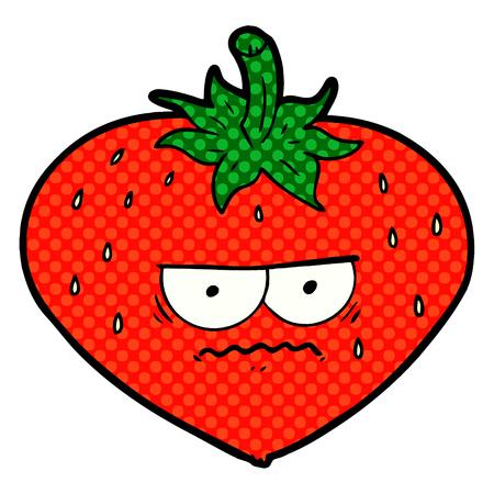 angry cartoon strawberry