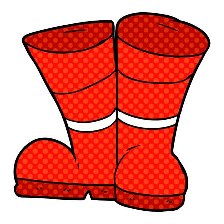 Boots cartoon vector illustration