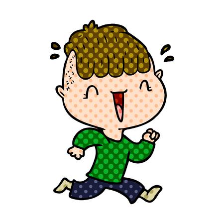 Cartoon happy boy surprised vector illustration