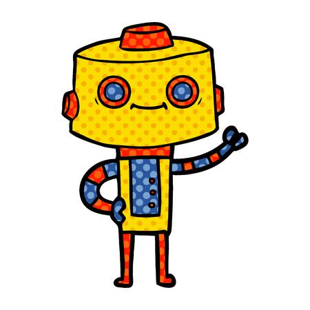 cartoon robot smiling