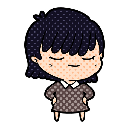 sleepy cartoon woman
