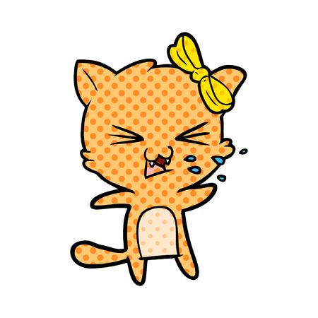 angry cartoon cat