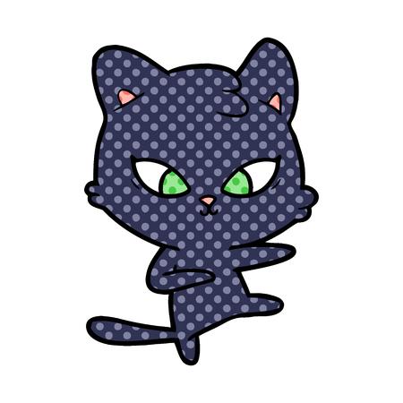 cute cartoon cat Stock Vector - 95438366