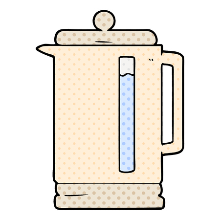 Animation product of electric kettle vector illustration