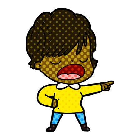 Animation character of woman talking vector illustration Illustration