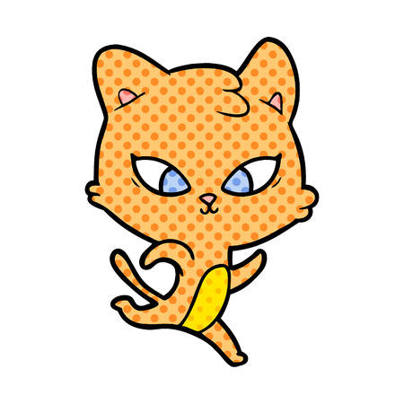 Animation character of a super cute cat vector illustration Illustration