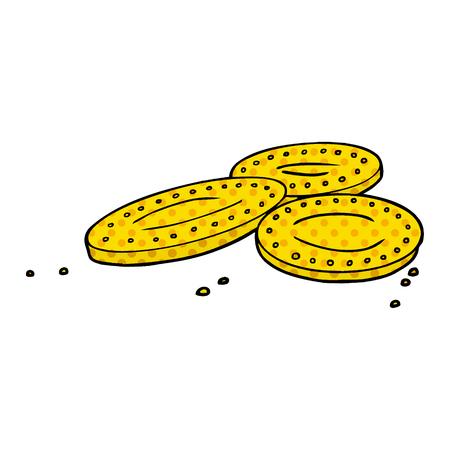 cartoon gold coins