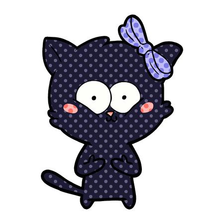 cartoon cat surprised