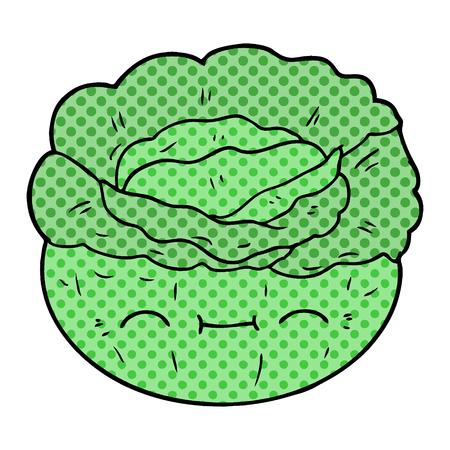 Hand drawn cartoon cabbage