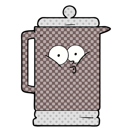 Hand drawn cartoon electric kettle 스톡 콘텐츠 - 95546888