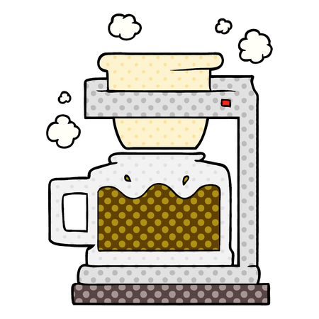 Hand drawn cartoon coffee pot 向量圖像