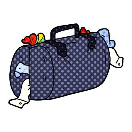 Hand drawn cartoon luggage