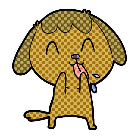Hand drawn cute cartoon dog