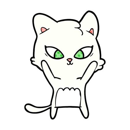 Hand drawn cute cartoon cat  イラスト・ベクター素材