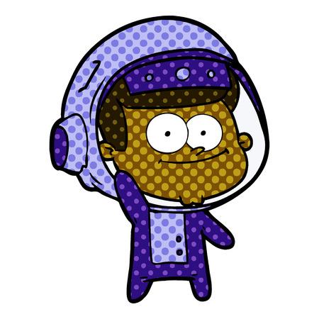 Happy astronaut cartoon 스톡 콘텐츠 - 95413030