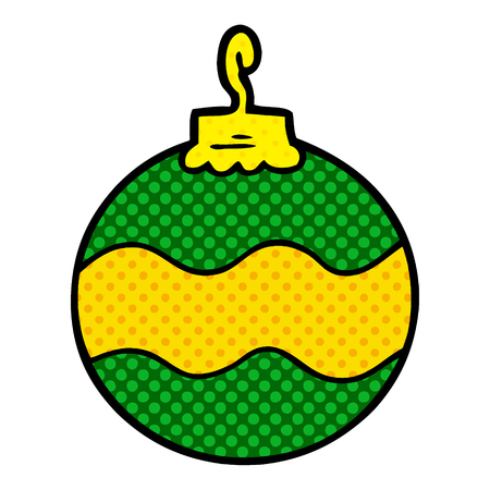 Hand drawn cartoon Christmas bauble
