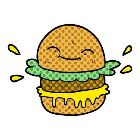Cartoon fast food burger.
