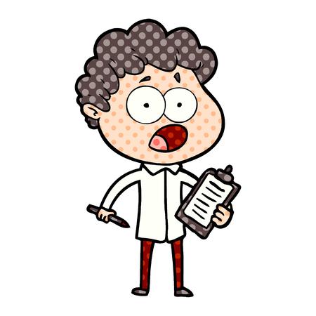 cartoon man gasping in surprise Banco de Imagens - 95532476