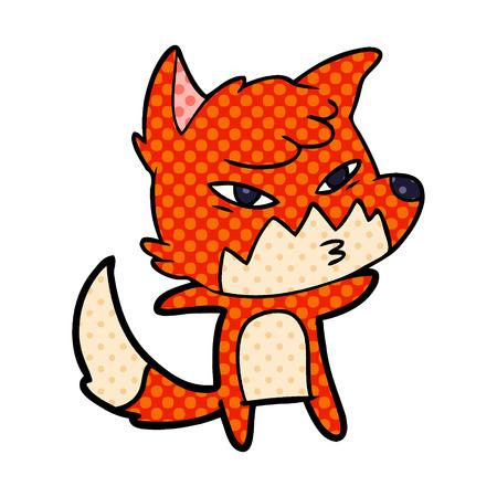 clever cartoon fox Stok Fotoğraf - 95532734