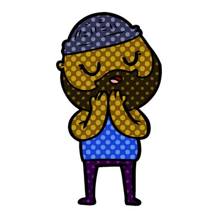 cartoon man with beard Banque d'images - 95458018