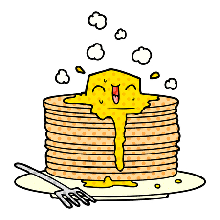 stack of tasty pancakes Stock Illustratie