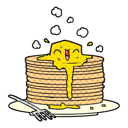 stapel smakelijke pannenkoeken Stock Illustratie