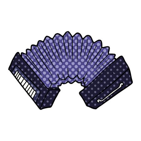 cartoon accordion illustration design.
